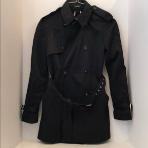 Express Women's Black Double Breasted Trench Coat